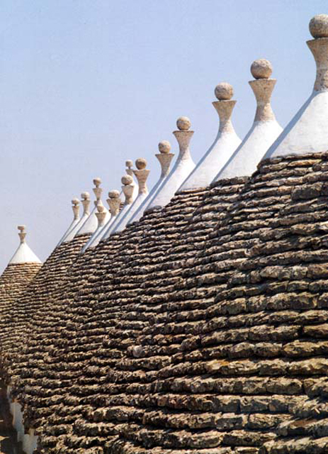 Trulli vaults in Southern Italy