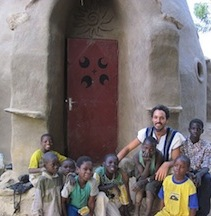 Scott Howard in Mali, Earthbag Dome, Earthen Construction, Dogon Country
