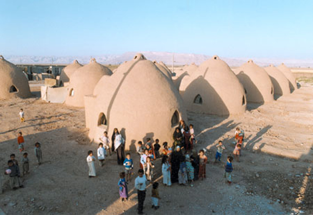 United Nations Earthen Dome Refugee Camp