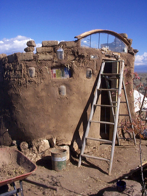 Owner-built Adobe brick house in New Mexico